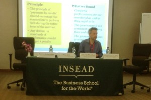 Insead Singapore presentatie over public-private partnerships 11-4-2015